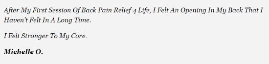 Back Pain Relief 4 Life Program Reviews